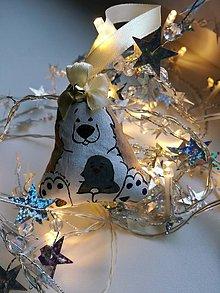 Dekorácie - Maco a tučniak - vianočná ozdoba - 10167093_