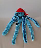 Hračky - Háčkovaný chobotničiak Oliver - 10167749_