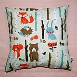 Textil - Vankúš detský zvieratká bledozelena - 10164426_
