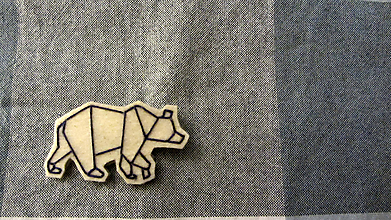 Odznaky/Brošne - Brošňa ľadový medveď - 10167878_