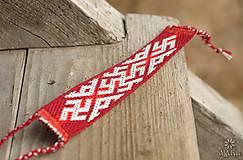 Náramky - Tkaný náramok Kvet paprade - 10167485_