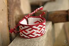 Náramky - Tkaný náramok Kvet paprade - 10167487_