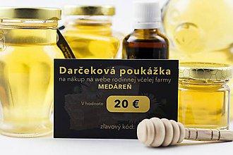 Darčekové poukážky - Darčekový poukaz 20 € - 10168458_