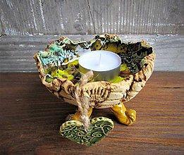Svietidlá a sviečky - svietnik-miska - 10165005_