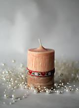 Svietidlá a sviečky - Folk sviečka II. - 10168286_