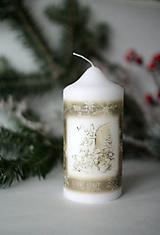 Svietidlá a sviečky - Vintage sviečka - Anjel - 10168338_
