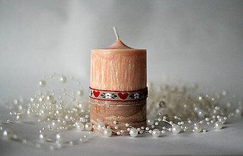 Svietidlá a sviečky - Folk sviečka II. - 10168285_