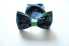 Doplnky - Pánsky set - modrý kvetinový - 10165858_