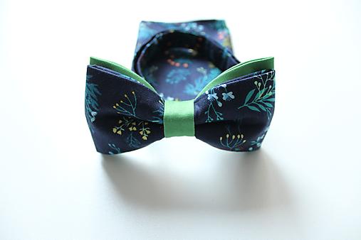 Pánsky set - modrý kvetinový