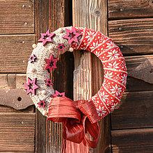 Dekorácie - Vianočný venček na dvere - 10164503_