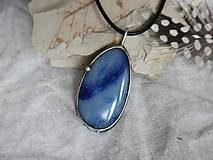 Náhrdelníky - Voda (modrý kremeň) - 10168531_