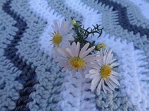 Úžitkový textil - Háčkovaná deka - 10168294_