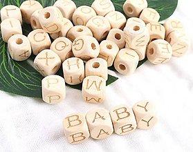 Korálky - KD112 Korálky drevené písmenká 1,2 cm - 10167400_