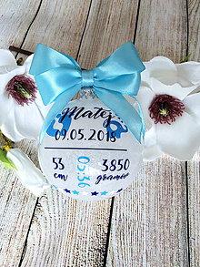Dekorácie - Vianočná guľa Novorodenec 2 - 10167184_