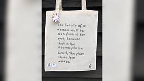 Iné tašky - ♥ Plátená, ručne maľovaná taška ♥ - 10168881_