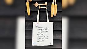 Iné tašky - ♥ Plátená, ručne maľovaná taška ♥ - 10168882_