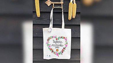 Nákupné tašky - ♥ Plátená, ručne maľovaná taška ♥ (MI12) - 10168897_