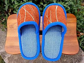 Obuv - Riflové papuče s oranžovým vrchom - 10167142_