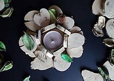 Svietidlá a sviečky - Svietnik ,,Natural