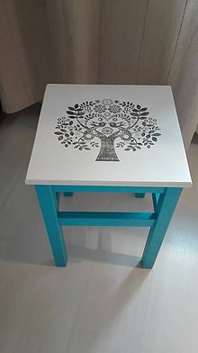 Nábytok - Ľudový stolček - 10164333_