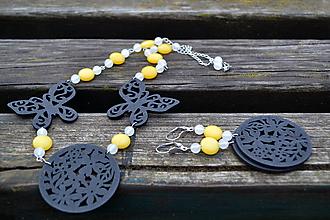 Sady šperkov - Motýle sada náhrdelník a náušnice - 10166945_