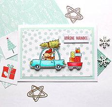 Papiernictvo - Vianočná pohľadnica - 10166302_