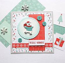 Papiernictvo - Vianočná pohľadnica - 10167297_