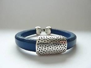 Náramky - náramek ... má oblíbená klasika tečkovaná modrá - 10167096_