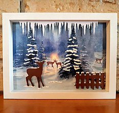 Obrázky - 2D obrázok - Zimný les - 10165564_