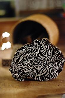 Pomôcky/Nástroje - Pečiatka indický ornament veľký - 10168852_