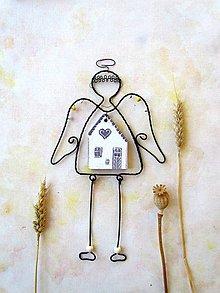 Dekorácie - anjel domáci* 24 cm - 10165497_