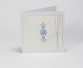 Papiernictvo - Ľadové ostrie - folk vyšívaná vianočná pohľadnica - 10164966_