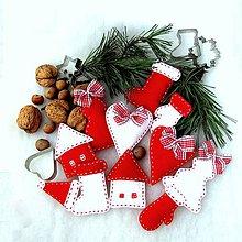 Dekorácie - veľká vianočná sada - 10 ks        (Biela) - 10164315_