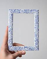 Rámiky - Folklór bielo-modrý - 10172371_