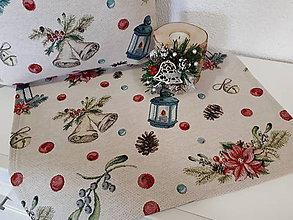 Úžitkový textil - Gobelínová sada (Vianočné zvončeky) - 10173703_