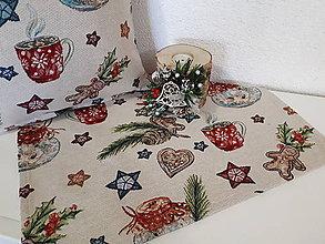 Úžitkový textil - Gobelínová sada (Vianočné pečivo) - 10173742_