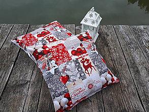 Úžitkový textil - Vianočné obliečky na vankuše  (Merry Christmas) - 10173864_