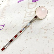 Ozdoby do vlasov - Rose Quartz Silver Hairpin / Sponka do vlasov s ruženínom /1237 - 10169570_