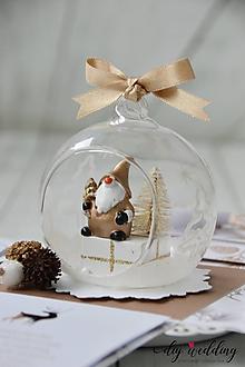 Papiernictvo - Vianočná darčeková krabička Trpaslík - 10171315_