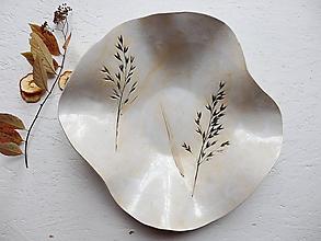 Nádoby - Veľká keramická misa na ovocie biela - 10172180_