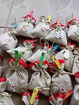 Dekorácie - Adventný kalendár vrecúška - 10171383_