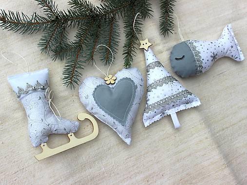 Sada vianočných ozdôb ♥ Strieborná
