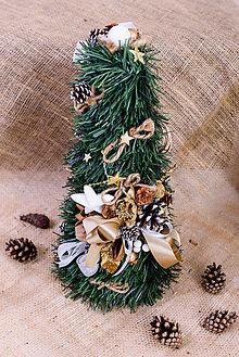 Dekorácie - vianočný stromček zlatá ruža - 10172318_