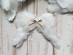 Dekorácie - Vianočné ozdoby - Anjelské krídla - 10169719_