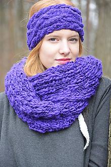 Ozdoby do vlasov - fialová čelenka - 10171759_