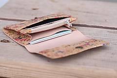 Peňaženky - Korková peňaženka S natural - 10169295_