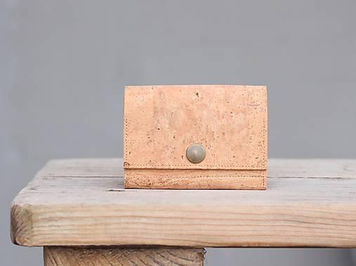 Korková peňaženka S natural