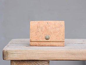 Peňaženky - Korková peňaženka S natural - 10169286_