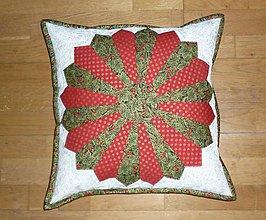 Úžitkový textil - Obliečka na vankúš vianočná (obliečka č.1) - 10173846_