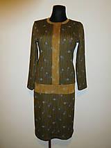 Šaty - Khaki zelené - 10169300_